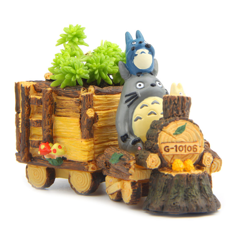 totoro terrarium figurines succulent plants pot fairy garden miniatures gnomes totoro resin. Black Bedroom Furniture Sets. Home Design Ideas