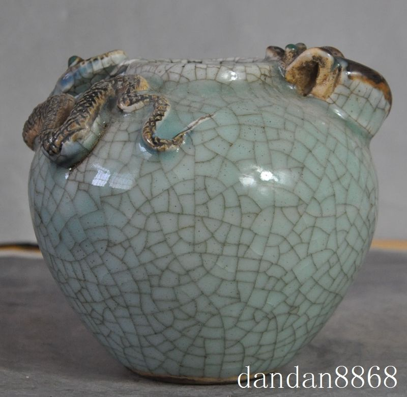 christmas old chinese fengshui porcelain glaze mice mouse snake Tanks Crock pot jar vase halloween
