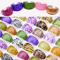 Commercio all'ingrosso 10 pz resina animali stili della pelle costume anelli per le donne ragazze bulk lots mix colorato d'epoca gioielli a buon mercato spedizione