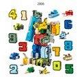 Конструктор GUDI «робот» 10 в 1, креативные образовательные фигурки-роботы для сборки, трансформаторная модель с цифрами, игрушки для детей, по...