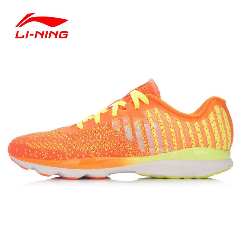 ФОТО Li-Ning Women's Ultralight Running Shoes Li Ning Autumn Lace-Up Breathable Damping Mesh Sports Sneakers ARBL014