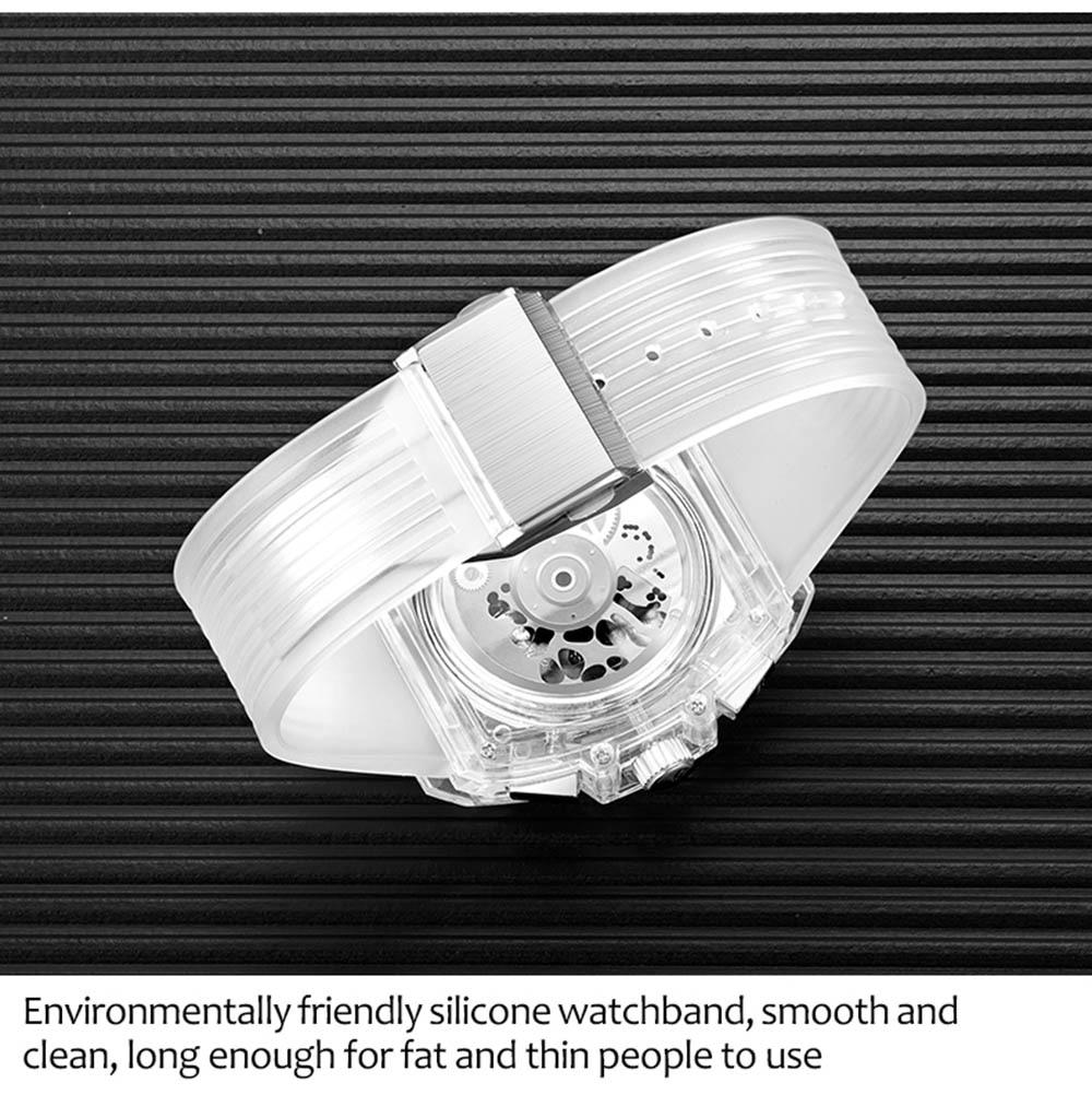 HTB1lrKmXET1gK0jSZFhq6yAtVXal luxury mens wristwatches Transparent quartz waterproof Multifunction man watches square white fashion clocks