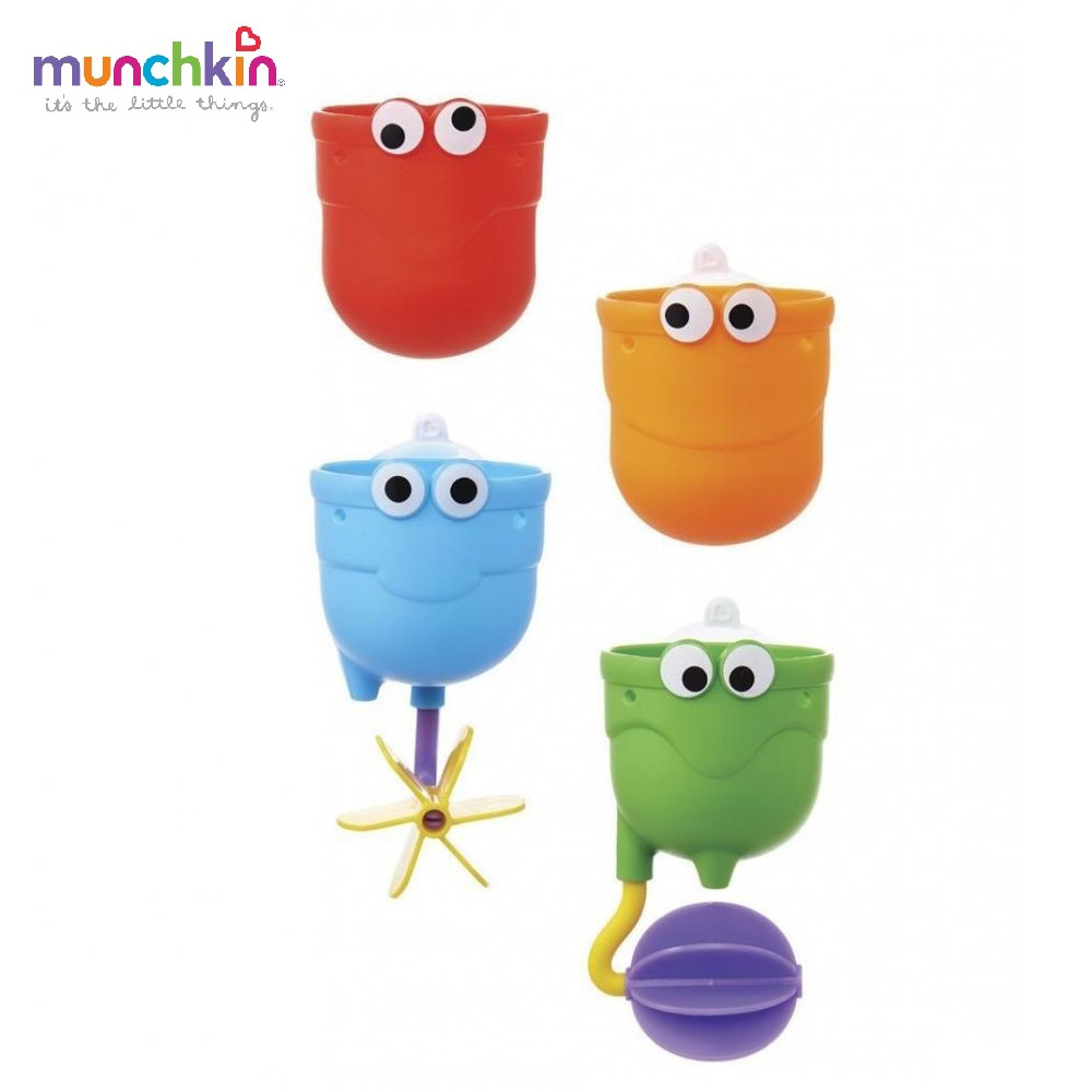 Фото Bath Toy Munchkin 12311 Bathing for bathroom on suckers Rubber plastic toys game baby Kids