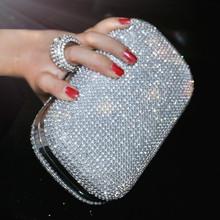 SEKUSA wieczór sprzęgła torby Diamond-Studded torba wieczorowa z łańcucha ramię torba damska torebki portfele wieczorowe do ślubu tanie tanio Poliester Kobiet Pojedynczy Brak Interior Key Chain Holder Cell Phone Pocket Evening Bags Twardy Hasp YM1000 Wszechstronny