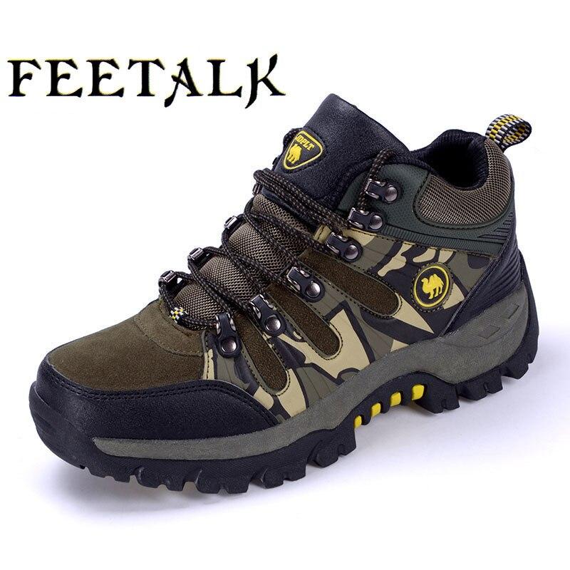 Men women hiking shoes outdoor Sneakers men mountain climbing trekking shoe male hunting trek sport shoes non-slip waterproof A1 цена