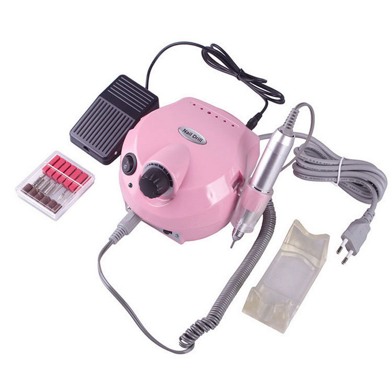 30000RPM Electric Nail Drill Machine Nail Art Equipment Manicure Kit Nail Drill File Bit Sanding Bands Accessory Nail Art Tools white nail tools electric nail drill machine 30000rpm nail art equipment manicure kit nail file drill bit sanding band accessory