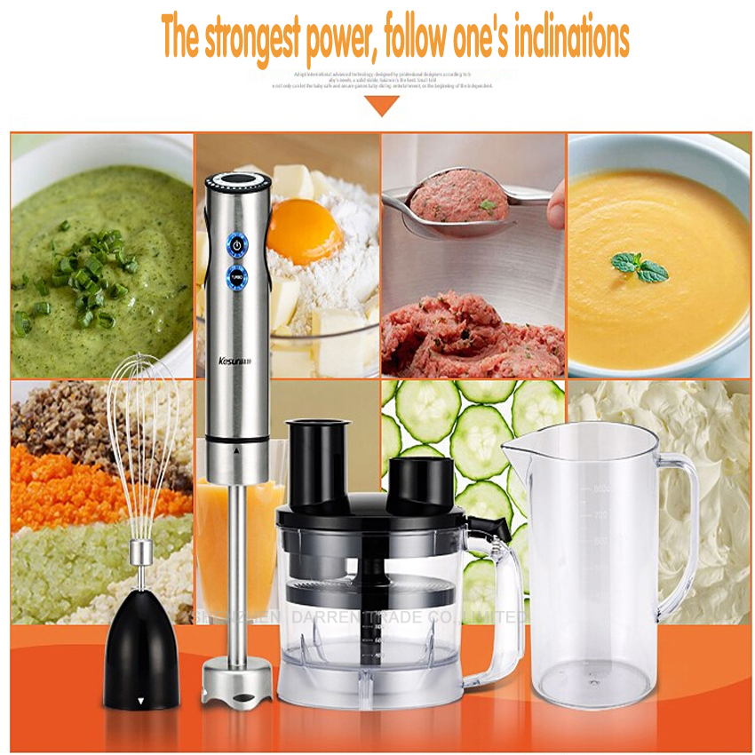 1PC Multifunctional Household Electric Salad cutter Hand Stick Blender Egg Whisk Mixer Juicer Meat Food Processor xeoleo 2l heavy duty commercial blender food greater material 2000w food processing machine with pc jar juicer mixer bpa free