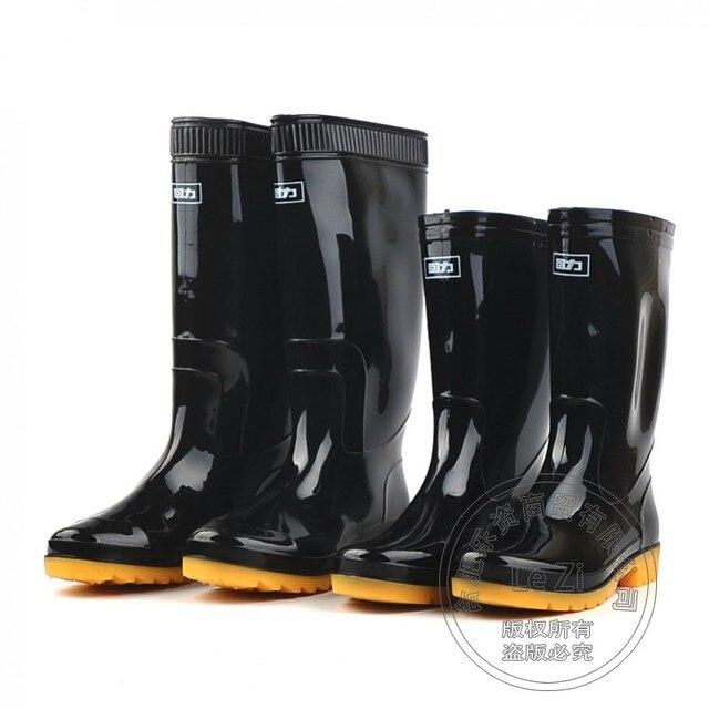 Гум Рабочая Обувь Гум-резиновая Подошва Средний Ног Впитывает Пот, Защитная Обувь Прочный Болотных Four Seasons Резиновая Skidproof Мужчины