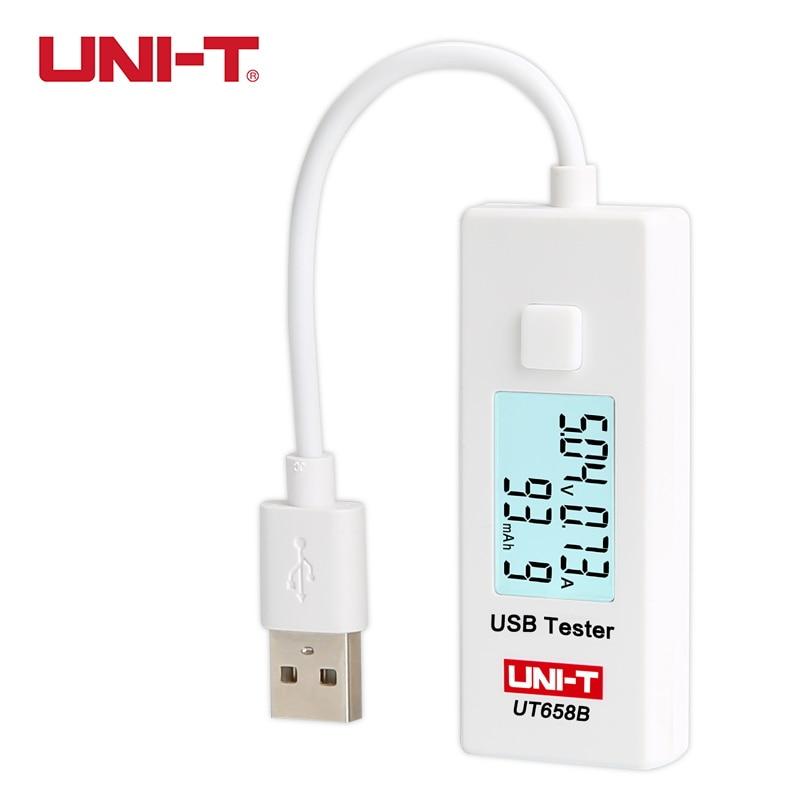 UNI-T UT658B USB Tester di Corrente Tensione di Carica Del Calcolatore Del Telefono Energy Monitor LCD Retroilluminato