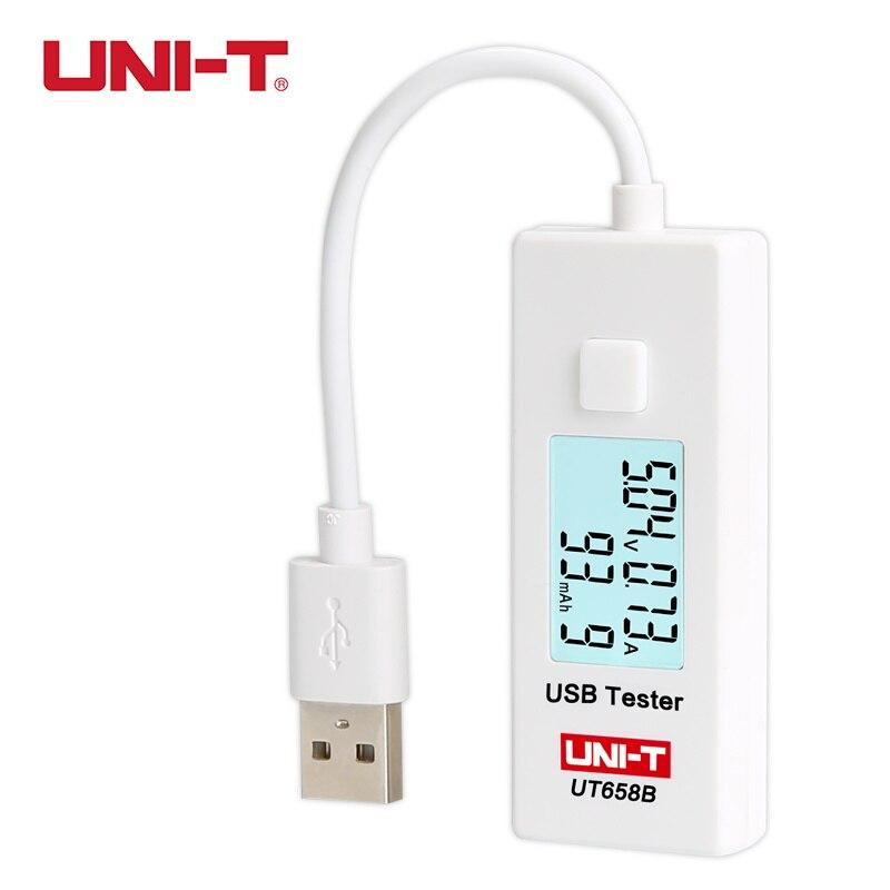 UNI T UT658B USB Tester Telefone Computador de Carregamento Tensão de Corrente de Energia do Monitor LCD Backlight