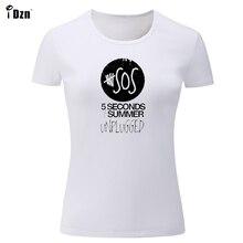 9ff752322a8 iDzn T-Shirts Women Harajuku 5 Seconds Summer T Shirt For Famale Casual  Short Sleeve