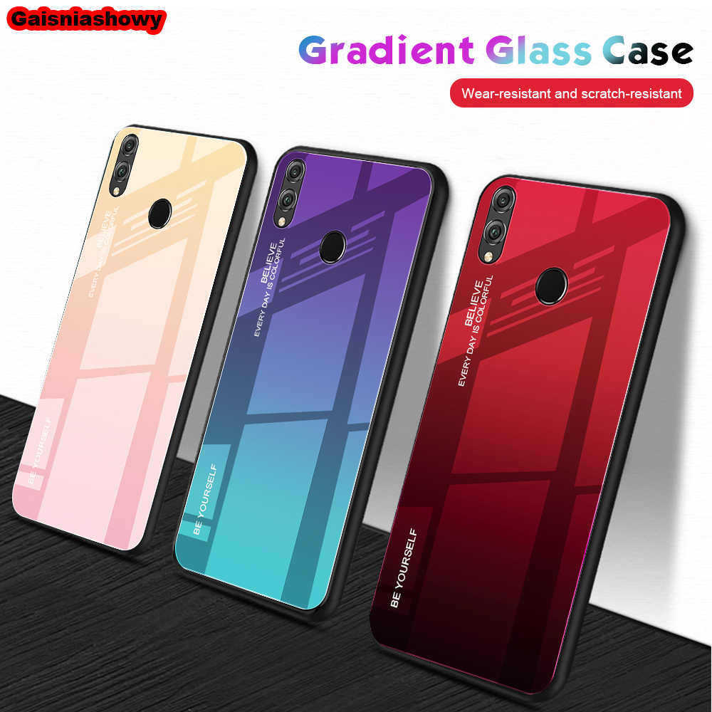 Case For Huawei P20 Lite P30 Mate 30 20 10 Pro Gradient Phone Cover For Huawei Nova 3i 3 3e 4 4e Tempered Glass Case Shell