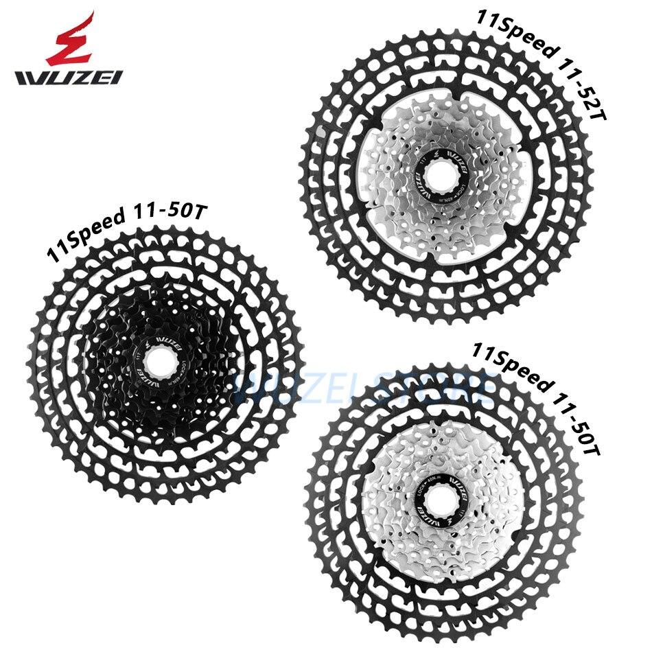 WUZEI 10/11/12 vitesse 11-50 T Cassette ultra-léger roue libre 46 T 52 T en alliage d'aluminium vtt vélo volant moteur pour Shimano GX