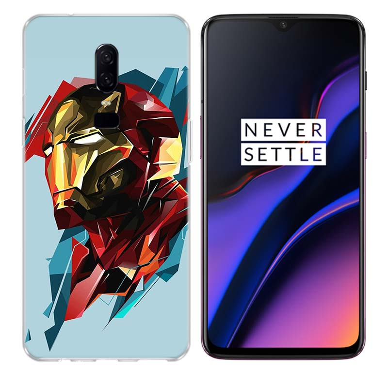 Silicome Phone Back Case For Oneplus 3 3T 5 5T 6 6T 7 Plus Gift Art Patterned Customized Cover Coque Cases Iron Man Marvel Hero in Half wrapped Cases from Cellphones Telecommunications