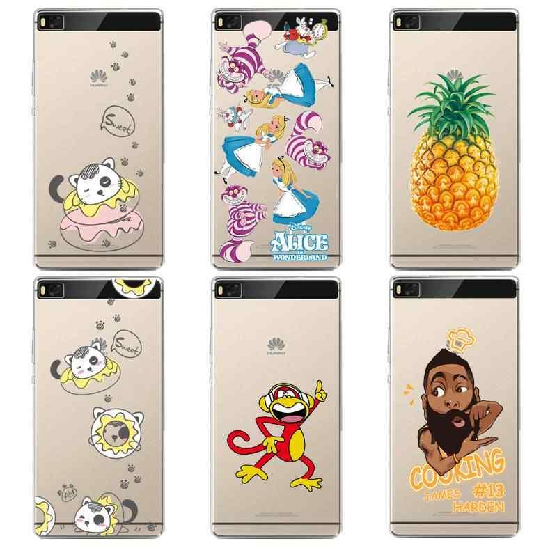 Princesse souple clair TPU coque de téléphone pour huawei P10plus P8 P9lite honour 3c 4c 6a 7 8 9 5c singe imprimé coque couverture livraison gratuite