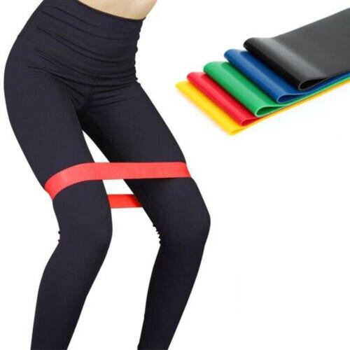 ✔  Йога Пояса Сопротивление Loop Набор из 5 упражнений тренировки Cross Fitness Yoga Booty Band ①