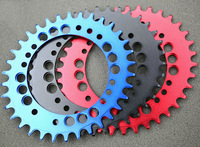 1 pc Fouriers CNC rower Pojedynczy Łańcuch Pierścień 34 T 36 T Chainrings P.C.D 104 dla S h i m a n o Owalnym Kształcie Wąskiej Szerokości Zębów