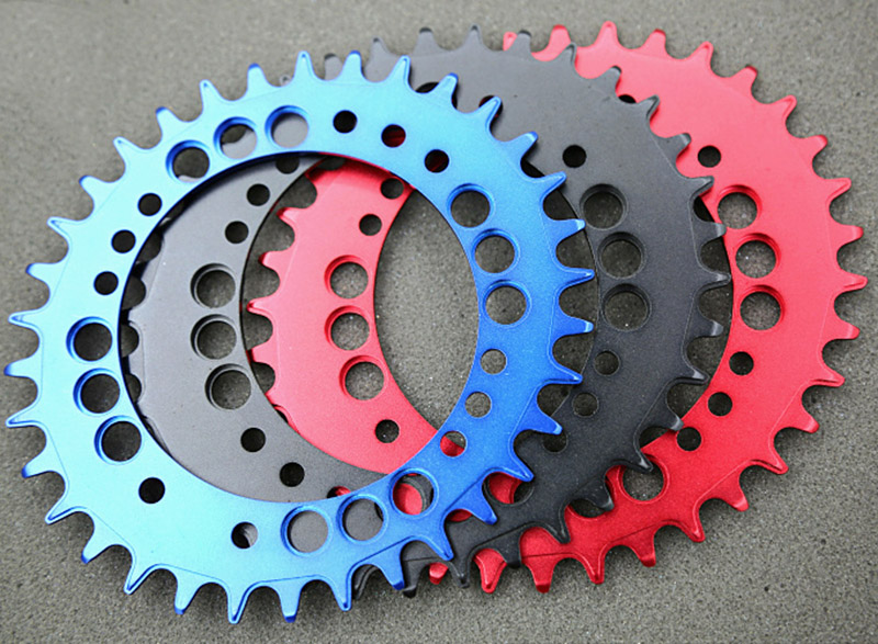 1pc Fouriers CNC bike bicycle Single Chain Ring 34T 36T Chainrings P.C.D 104 For S h i m a n o Oval Shape Narrow Wide Tooth 1pc fouriers cnc bike bicycle single chain ring 34t 36t chainrings p c d 104 for s h i m a n o oval shape narrow wide tooth