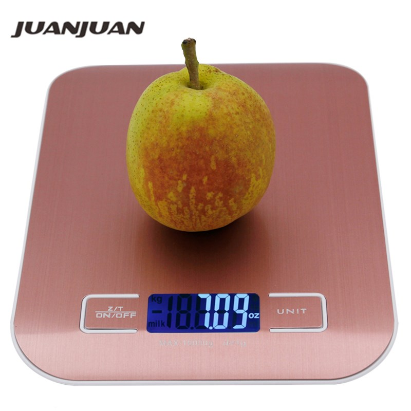 10KG 1g Digital Kitchen Stainless Steel Scale Big Food Diet Kitchen Cooking 10000g x 1g Weight Balance Electronic Scales 40% off(China)