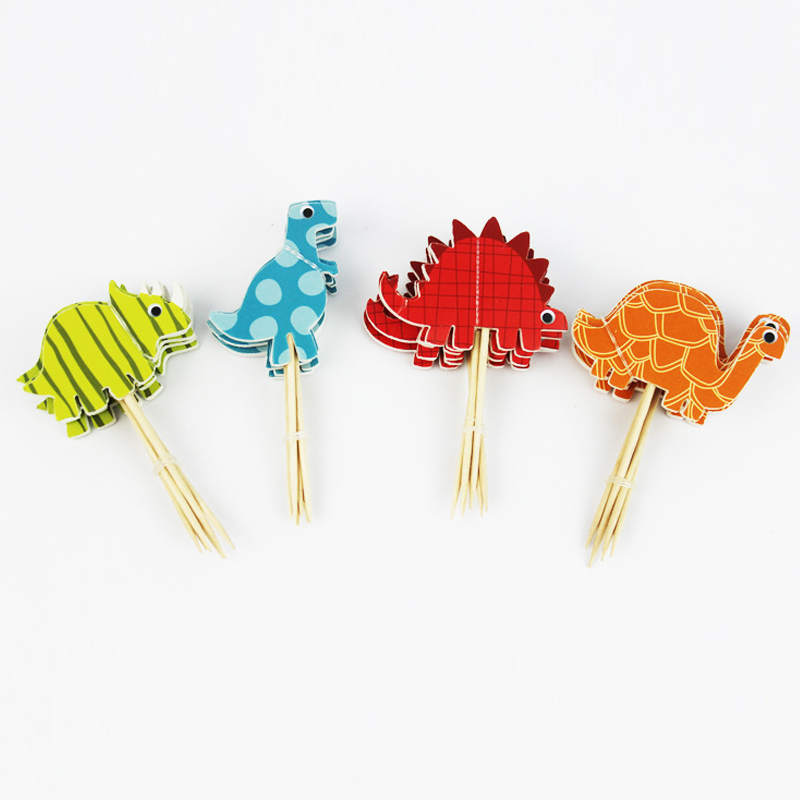 24pcs Dinosaur Cartoon Decoration Toys Baby Hat Children Party Toy Gold/Silver Cupcake Toppers Princess Crown Hat Toys For Kids