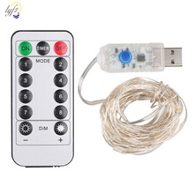 LYFS 10m 20m USB Powered Remote Controller Copper Wire LED String Lights Waterproof Fairy Lights Decoration Party Wedding Garden