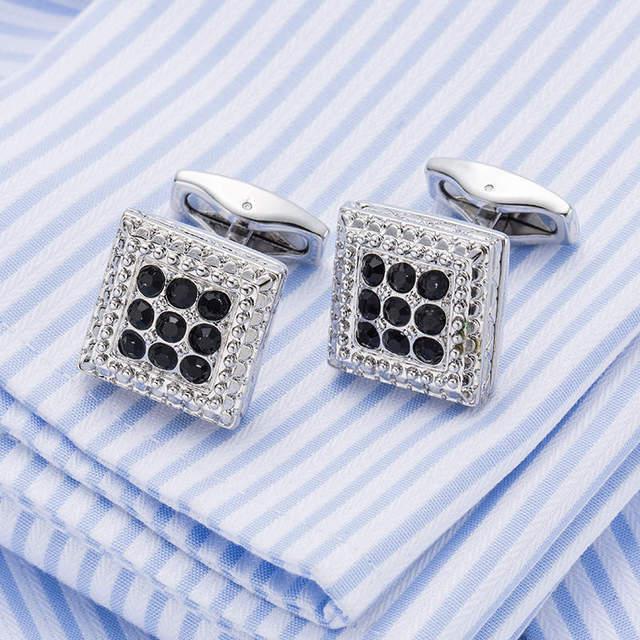Vagula Crystal Cufflinks Lawyer Cuff Link Shirt High Gemelos 10198