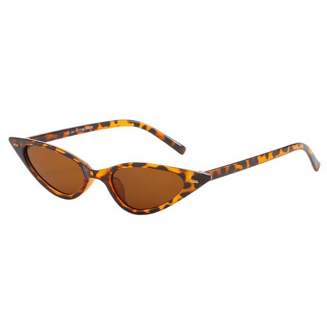 Hot sell fashion eye protection flat glasses Unisex Fashion Small Frame Sunglasses Vintage Retro Cat Eye Sun Glasses 45#
