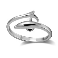 Christmas Gifts Fashion And Lovely Dolphin Ring Women Sterling Silver Ring Size Can Be Adjusted Girl