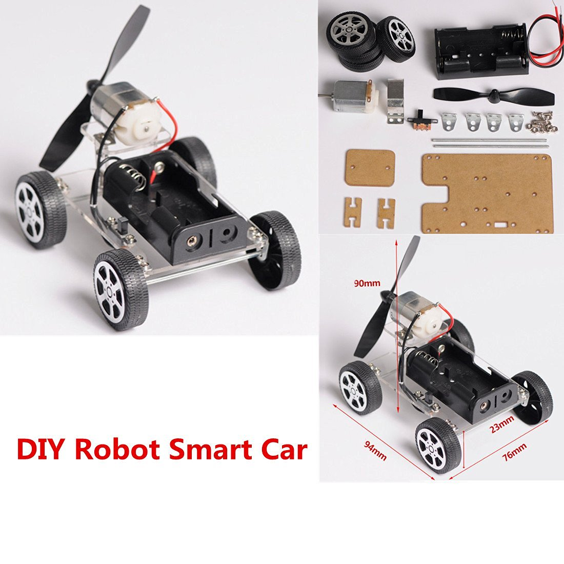 Car Battery Coupons >> MINI 4 wheel Windmilling DIY Robot Smart Car Chassis Kits Car Model and Battery Box-in Model ...