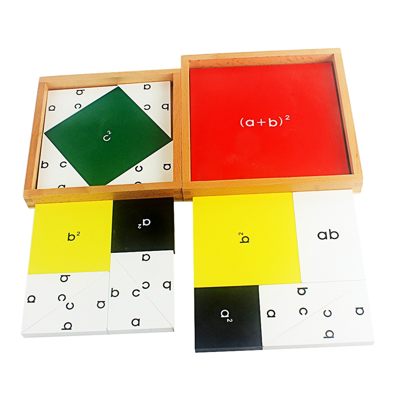 Wooden Toy Montessori Pythagorean Theorem ABC Board Math Formula Learning School Classroom Teaching Aids Early Educational Toys