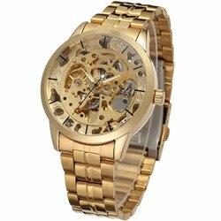 Męskie automatyczne mechaniczne zegarki Top marka zegarki luksusowe męskie stalowe wojskowe zegarki szkieletowe męskie biznesowe szafirowe nowe