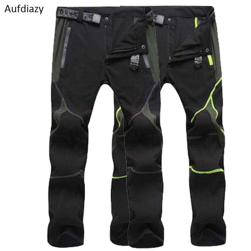 Aufdiazy Mens Stretch Waterproof Quick Dry Hiking Fishing Pants Black Spring Summer Men Outdoor Trekking Climbing Trousers JM057