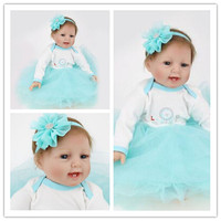 22 inch reborn dolls babies Baby Alive Silicone Reborn Toddler Princess Girl Dolls Mini Silicone Reborn Baby Doll