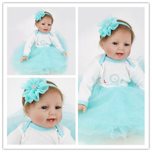 silicone reborn baby dolls Foreign goods original rebirth baby short hair big BABY dress up with sleeping doll children toys