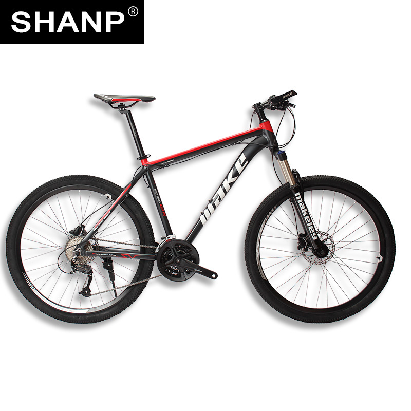 SHANPMOUNTAIN BICYCLEALUMINUM METAL VARIABLE 27 Speed 26 Inch Double Disc Brakes Men And Women Cycling