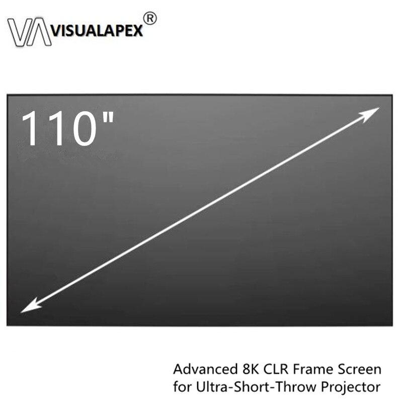 Écrans de Projection à cadre fixe à lunette mince de 110 pouces 16:9 avec tissu PET + écran ALR pour projecteur Ultra court