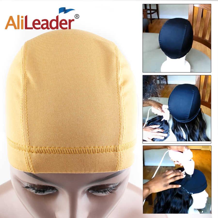 Alileader парик кепки s для изготовления парик блондинка кепки s прочный купол ткань эластичная лента сцепление коричневый, черный 1 шт