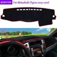 For Mitsubishi Pajero 2007 2016 Dashboard Mat Protective Interior Photophobism Pad Shade Cushion Car Styling Auto