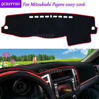 For Mitsubishi Pajero 2007 2016 Dashboard Mat Protective Interior Photophobism Pad Shade Cushion Car Styling Auto Accessories
