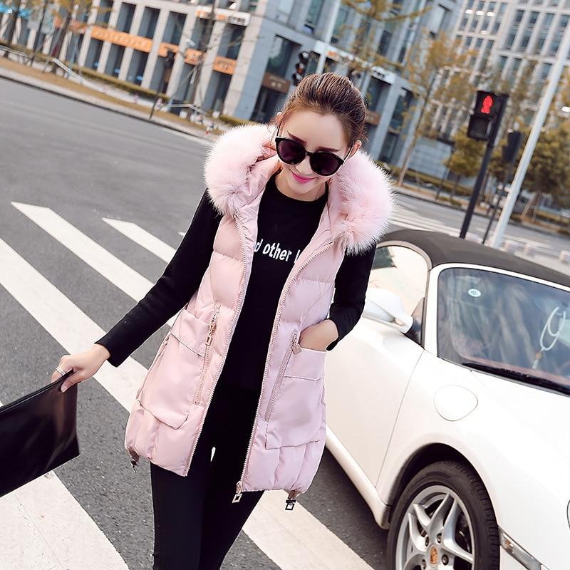 Winter Thick Women Faux Fur Hoodie Long Vest Jackets Sleeveless 2018 Femme Ladies Fur Hooded Vest Coat hot sale women vest winter faux fur vest soft women fur jacket sleeveless casual outwear winter fur vest