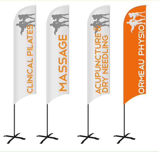 Free Shipping ! Double-side Or Single-side Printed Outdoor Beachflag In Different Sizes And Shapes For Sale
