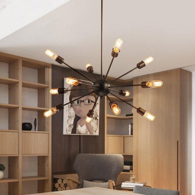 12 pcs e27 ampoule vintage plafonniers lampes pour salon plafonnier en fer forgé luminaria accueil luminaires