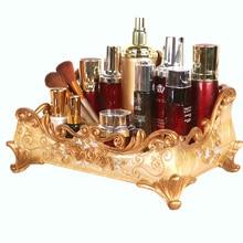 Desktop cosmetics storage box large European skin care creative dresser finishing rack
