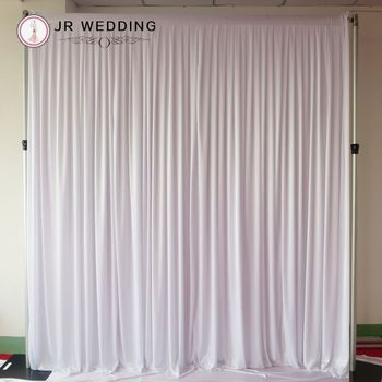 10FT*10FT (3M H * 3M L) White Ice Silk Wedding Backdrop Curtain For Free Shipping