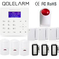 433 mhz Wireless wifi GPRS sms gsm seguridad en el hogar sistemas de alarma anti robo de Android/IOS control PIR detector + sirena inalámbrica