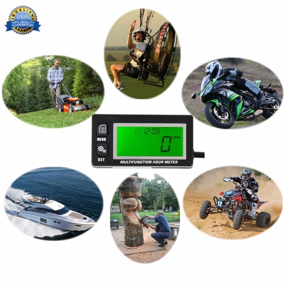Tacómetro inductivo Medidor de horas Pantalla termómetro para todos - Accesorios y repuestos para motocicletas - foto 1