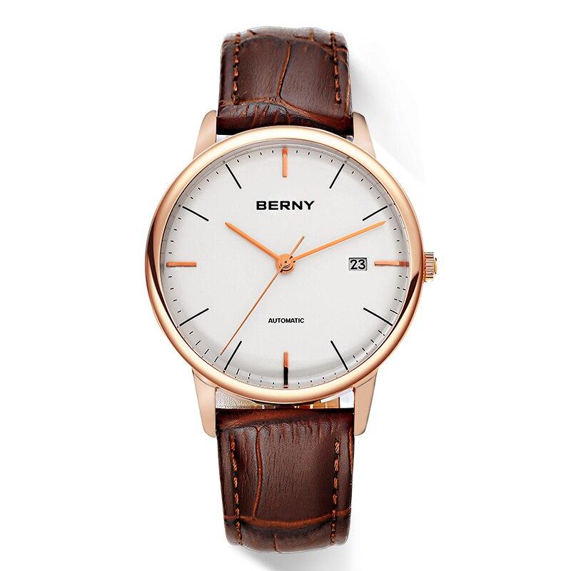 Mens MIYOTA อัตโนมัตินาฬิกา Mechnical อัตโนมัตินาฬิกาข้อมือ erkek kol saati relojes para hombre สแตนเลส-ใน นาฬิกาข้อมือกลไก จาก นาฬิกาข้อมือ บน   3