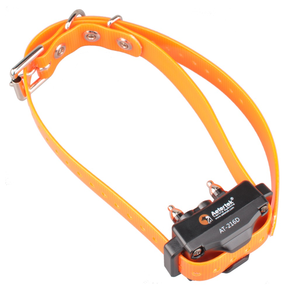 Aetertek At 216D Add on Receiver Submersible 100 Fully Waterproof Dog Collar Shock Beep Vibrate Updated