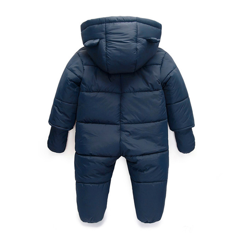 3ad8b7858 Baby Snowsuits Cotton Hooded Jumpsuit Boys Girls Winter Warm Coats ...