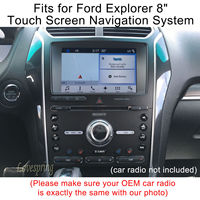 2Pcs 8 Inch Tempered Glass Screen Protector Films For Ford Explorer 8